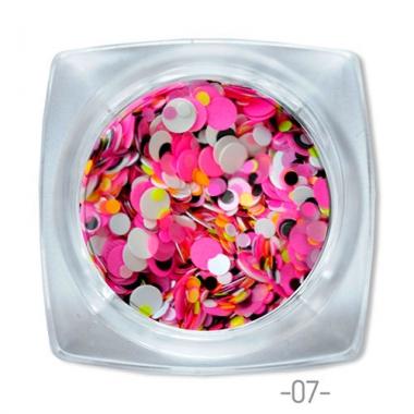 07 конфетти для дизайна ногтей Круглые
