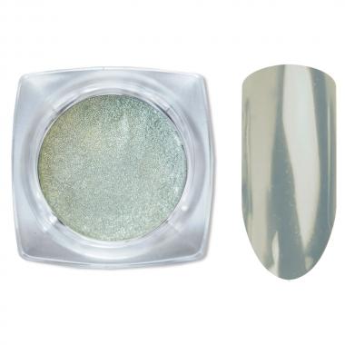 Зеркальный блеск втирка для ногтей зеленый