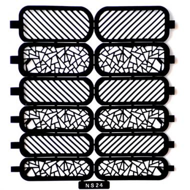 Трафарет для дизайна ногтей 16 витраж