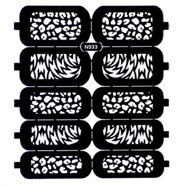 Трафарет для дизайна ногтей 19 пятна
