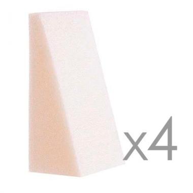 FS-11 Н-р спонжей для макияжа треугольники (уп 4 шт.) Cleola