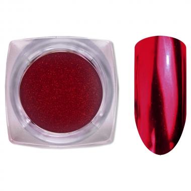 06 Зеркальный блеск ХРОМ втирка для ногтей 0,2 гр. Cosmake Красный