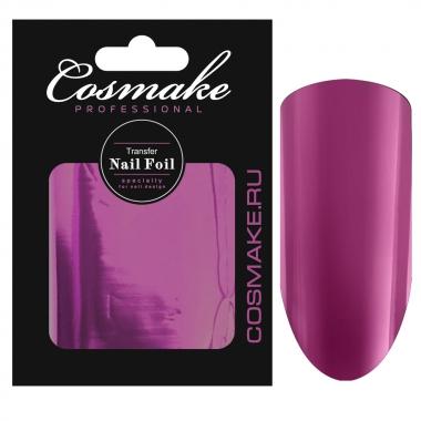 12 Фольга переводная для дизайна ногтей Cosmake розовая 1 метр