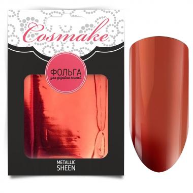 14 Фольга переводная для дизайна ногтей Cosmake Красная 1 метр