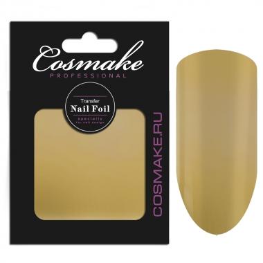 05 Фольга переводная для дизайна ногтей Cosmake золото 1 метр