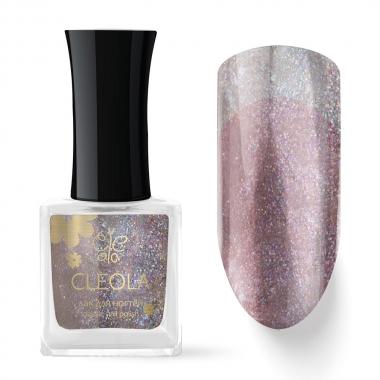 76 Лак для ногтей Cleola 9 мл Прозрачный с шиммером