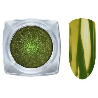 08 Зеркальный блеск ХРОМ втирка для ногтей 0,2гр. Cosmake Светло-Зеленый