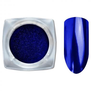 12 Зеркальный блеск ХРОМ втирка для ногтей 0,2гр. Cosmake Синий
