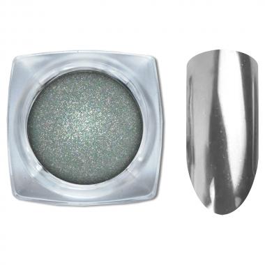 02 Зеркальный блеск Галактика втирка для ногтей 1гр. Cosmake Серебро