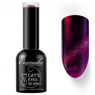 10 Кошачий глаз 3D гель-лак 11 мл Cosmake Фиолетово-Бордовый